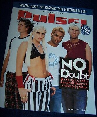 No Doubt on the cover of Pulse! magazine. January 2002.