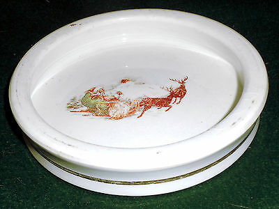 Rare Victorian 1890s Santa Clause Child's Feeding Dish Bowl ~ Harker Pottery