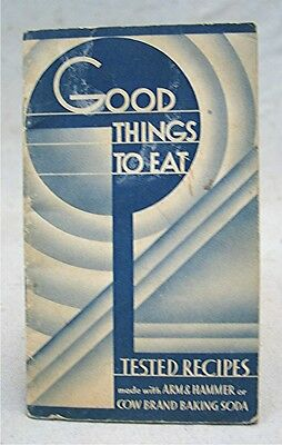 Vintage 1936 Good Things to Eat -- Adv Arm & Hammer or Cow Brand Baking Soda