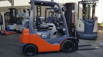 TOYOTA 8FG18 FORKLIFT 2012 MODEL LOW HRS CONTAINER MAST $13,499+GST Negotiable