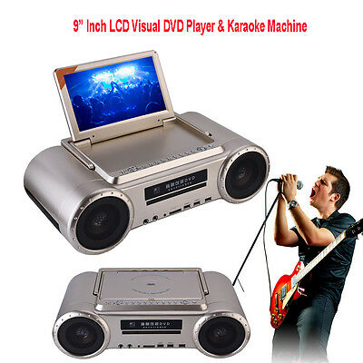 "Professional 9"" HD LCD Visul DVD Player & Karaoke Machine with Dual Microphone"