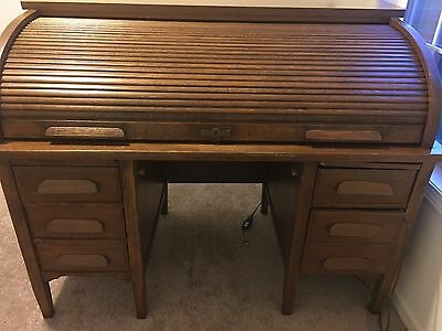 Antique Roll Top Desk All Orginial