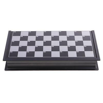 10×10 Folding Magnetic Game Board w/ Draughts Checkers Set for Friends Gift