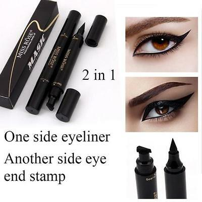 Winged Eyeliner Stamp Waterproof Makeup Cosmetic Eye Liner Pencil Liquid Black
