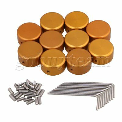 Golden Aluminum alloy Protection Cap for Guitar Effects Parts Set of 10