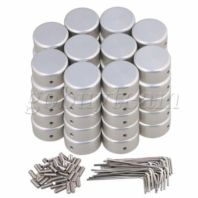 50xSilver Aluminum Alloy Protection Cap for Guitar Effects Parts 23x11mm