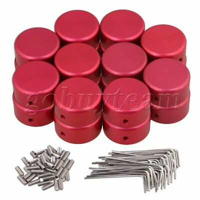 20x Red Aluminum Alloy Protection Caps for Guitar Effects Parts 23x11mm