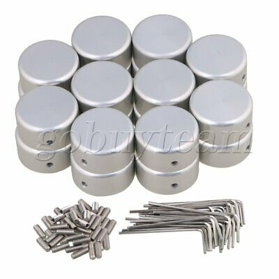 20pcs Silver Guitar Effects Accessories Stomp Switch Pedal Box Foot Cap