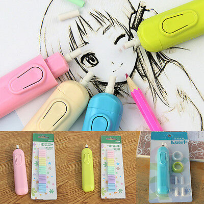 Electric Erasers With Battery Operated Replacement Core Students Stationery Gift