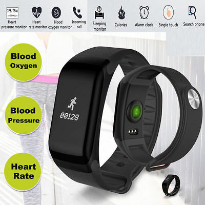 F1 Smart Watch Blood Pressure Heart Rate Monitor Fitness Sports Bracelet Band