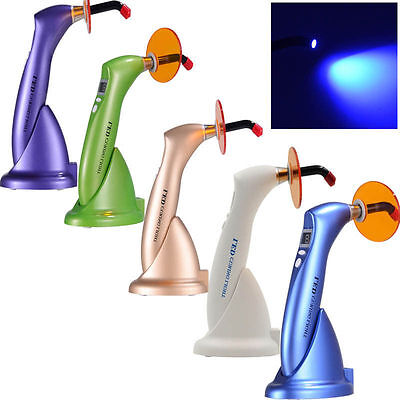LED Dental Curing Cure Lamp light Wireless Cordless 1500mw for Dentist 5 Color