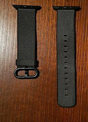 OFFICIAL 38‑mm Black Woven Nylon Apple Watch Band with Original Packaging