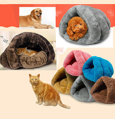 Soft Kitten Cat/Dog Warm House Puppy Cave Pet Sleeping Bed Mat Pad Nest 5 Colors