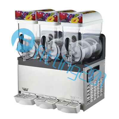 Slush Making Machine Drink Slushy Smoothie Maker Tea Double Sided 15LX2 110V