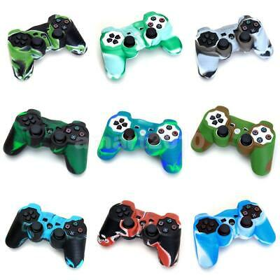 Camo Silicone Grip Case Cover Shell for Sony Playstation PS2 PS3 Controller