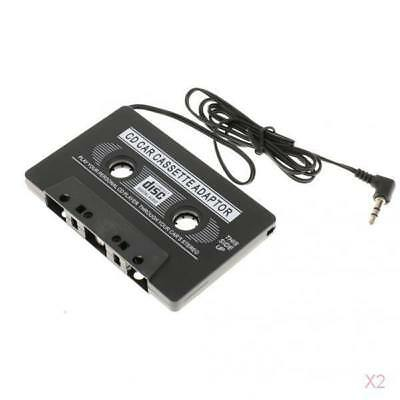 2x Car Cassette Tape 3.5mm AUX Audio Adapter for MP3 MP4 Player CD iPhone