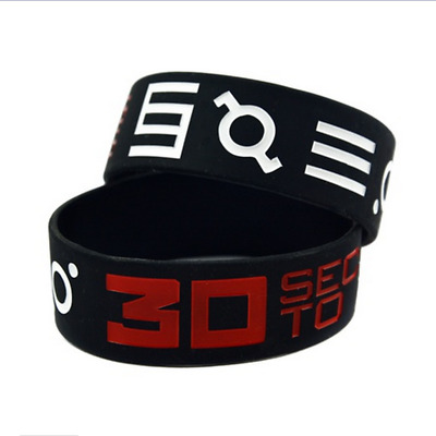 30 Seconds to Mars Silicone Rubber Wristband bracelet jewelry gift 1pcs