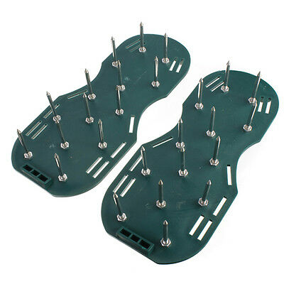 Lawn Grass Aerator - Aerating Shoes Sandals 30 x 13cm Spikes Shoe Easy Strap On