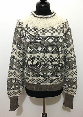 MOSCHINO VINTAGE '80 Maglione Donna Lana Wool Woman Sweater Sz.S - 42