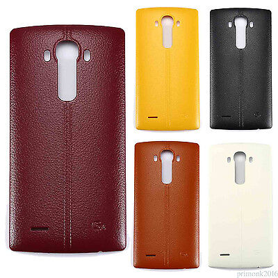 For LG G4 H811 H810 Battery Door Back Case Cover NFC Sticker PC Plastic Leather