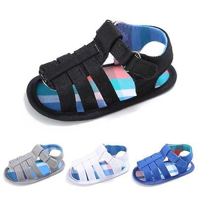 Summer Toddler Baby Kids Girl Boy Non-slip Soft Sole Crib Sandals Sneakers Shoes