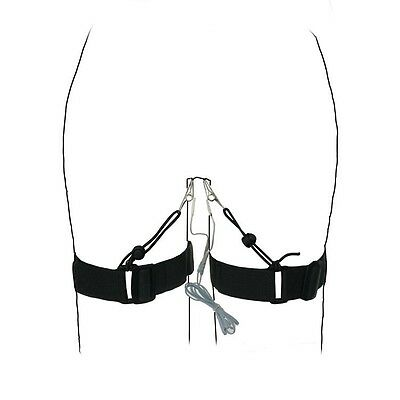 Electro Electrical Stimulation thigh Cuffs clips For Women E-stim Accessory