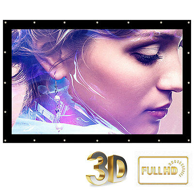180'' Inch Projection Film Projector Screen 16:9 HD 3D Movie Home Cinema Outdoor
