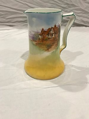 royal doulton med jug house and tree scene