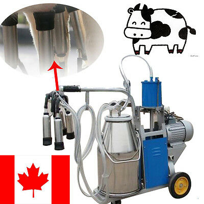 【CA】Electric Milking Machine Vacuum Piston Pump Milker For Farm Cow Automatic AA