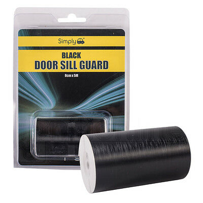 Black Car Door Sill Guard Protector Polyurethane Plastic Trim Bodywork 8cm X 5m