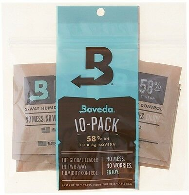 Boveda 58 Percent RH 2-Way Humidity Control 8 Gram 10 Pack Factory-sealed