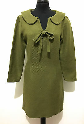 CULT VINTAGE '70 Abito Vestito Donna Lana Wool Woman Dress Sz.S - 42