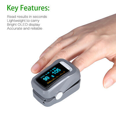 GHB Pulse Oximeter Sp02 Blood Oxygen Saturation Heart Rate  Finger Meter Monitor
