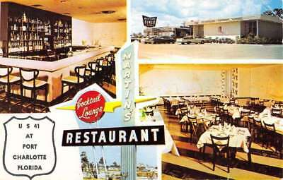 Port Charlotte Florida Martins Dining Multiview Vintage Postcard K71278