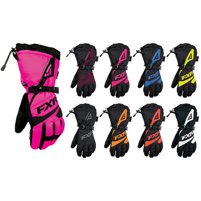 FXR Womens Snowmobile Insulated Waterproof Polar Fleece Lining Fusion Gloves