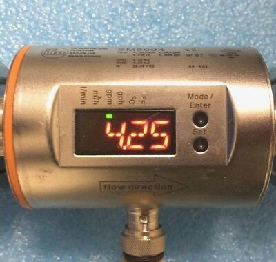 *TESTED* IFM Efector SM8004 Electronic Magnetic Flow Meter 100 L/min (26.4 gpm)