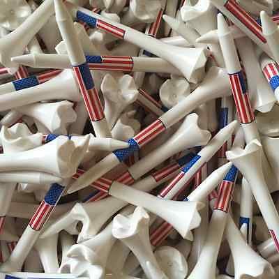 "100 2 3/4"" 2.75 Pride Evolution American Flag USA Golf Tees White Wholesale"