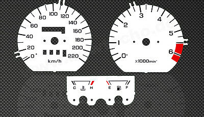 Honda Goldwing GL1500 SC22 Speedo Tachoscheiben Tacho Gauge Dial disk faces
