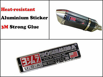 Yoshimura Sticker Exhaust Decal Yoshimura Emblem Pipe Racing Heat Resistant USA