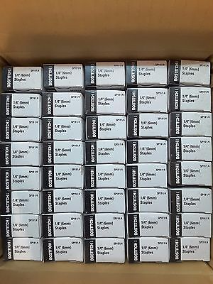 "Case of 40 Boxes of 5000 each Bostitch P3 Staples 1/4"" SP191/4"