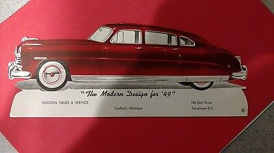 Hudson sales and service 1949 advertisement