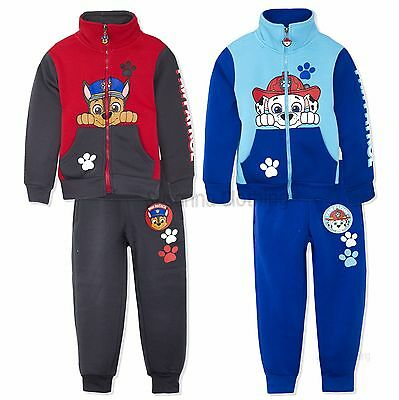 Nickelodeon Paw Patrol Boys Long Sleeve Tracksuit Outfit Set 2-6 Yrs New 2017/18