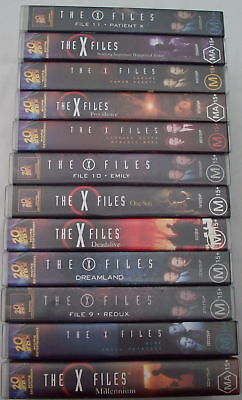 THE X FILES-12 VHS's Tapes  with 16 of the HIT EPISODES
