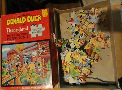 Vintage Disney Frontierland Jigsaw Puzzle - Complete