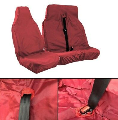 Double & Single 2+1 Red Van Seat Covers Cover Set For Volkswagen Vw Lt35