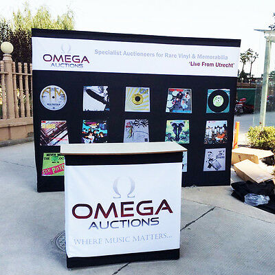 Custom graphic printing for 10ft x 8ft pop up display trade show booth backdrop