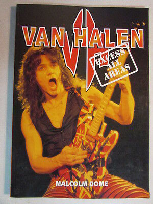 Van Halen Excess All Areas Paperback Book Malcom Dome 144 Pages Classic Era Oop