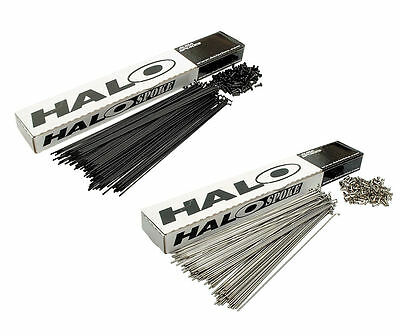 36 Halo MTB / Road DOUBLE BUTTED Spokes 14g / 2mm Black / Stainless with Nipples