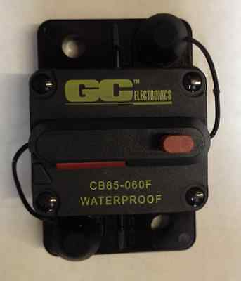 GC Electronics DC Circuit Breaker 60 Amp Surface Mt. CB85-060F