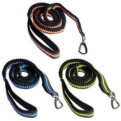 Dog Training Leash Lead for Running Walking Hiking with Adjustable Spring Waist